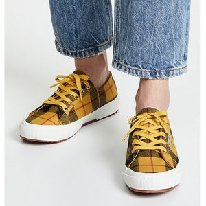 Tartan Plaid Superga Sneakers Rare